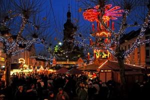 Europa Weihnachtsmarkt Beleuchtung