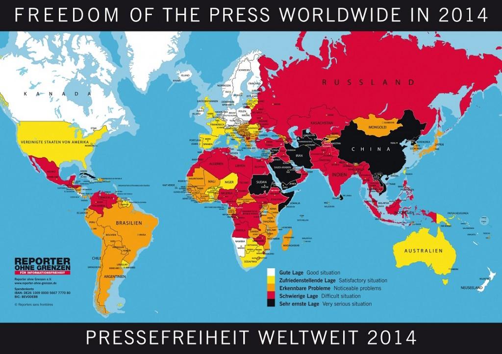 Pressefreiheit in Europa und der Welt