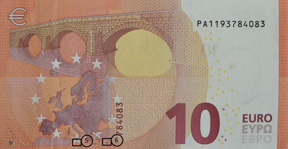 10 Euro Schein Rückseite Banknote