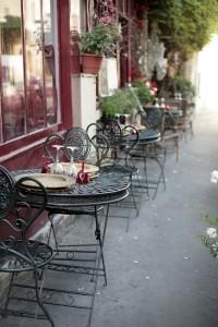 Einrichtungsstil Café Bistrogarnitur