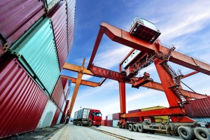 Europa Export Container Fracht