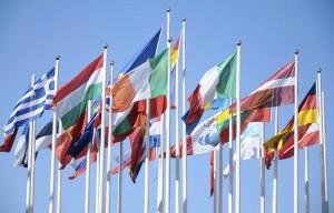 Rat der EU Flaggen Mitgliedstaaten