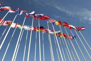 EU Rat Gipfeltreffen Flaggen