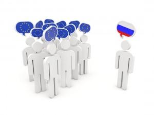 EU Rat Wirtschaftssanktionen EU Russland Figuren