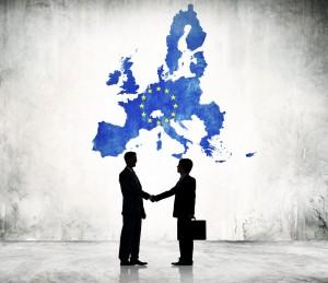 EU Binnenmarkt EU Karte Business Männer