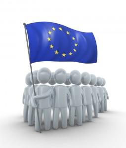 EGKS EU Flagge weiße Männchen