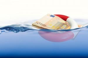Euro Retttungsschirm Rettungsring Euroscheine