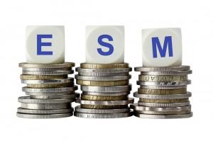 Euro Rettungsschirm Würfel ESM Euromünzen