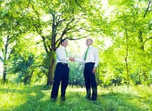 Handelsabkommen Umweltschutz Händeschütteln