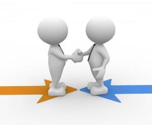Handelsabkommen Vertragsabschluss Händeschütteln