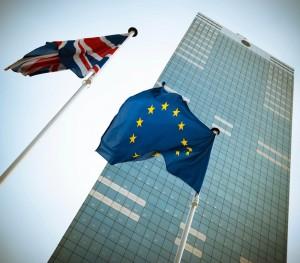Brexit Flaggen Großbritannien EU