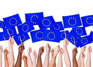 EGV EU Flagge Hände