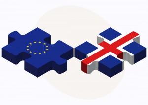 Island EU Puzzleteile Flaggen