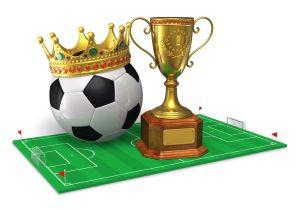 Animiert: Fußball, Krone. Pokal